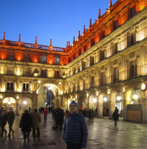 Leigh in the Plaza Mayor
