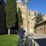 Taking in the Salamanca sites by bike