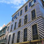 Beautiful tiled buildings in Gibraltar