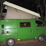 Green Toyota van, Essaouira