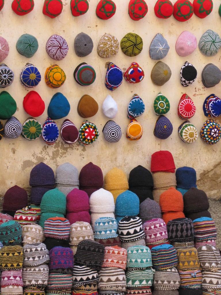 Hats in the souk, Essaouira medina