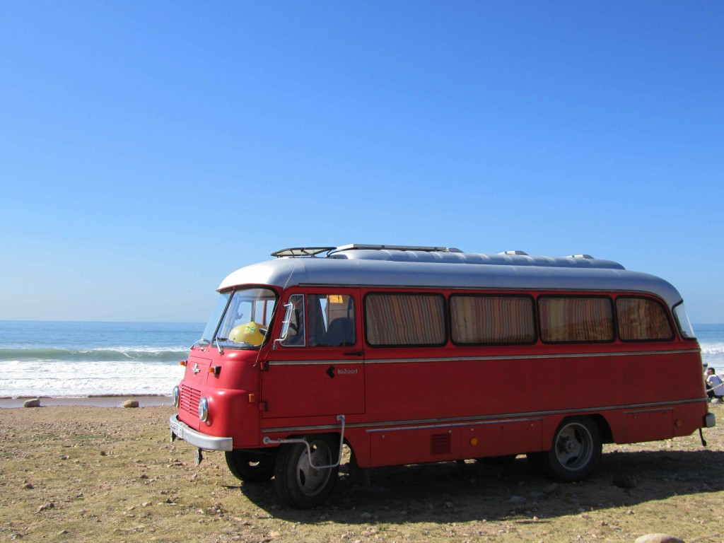 Camper surf bus, Taghazout