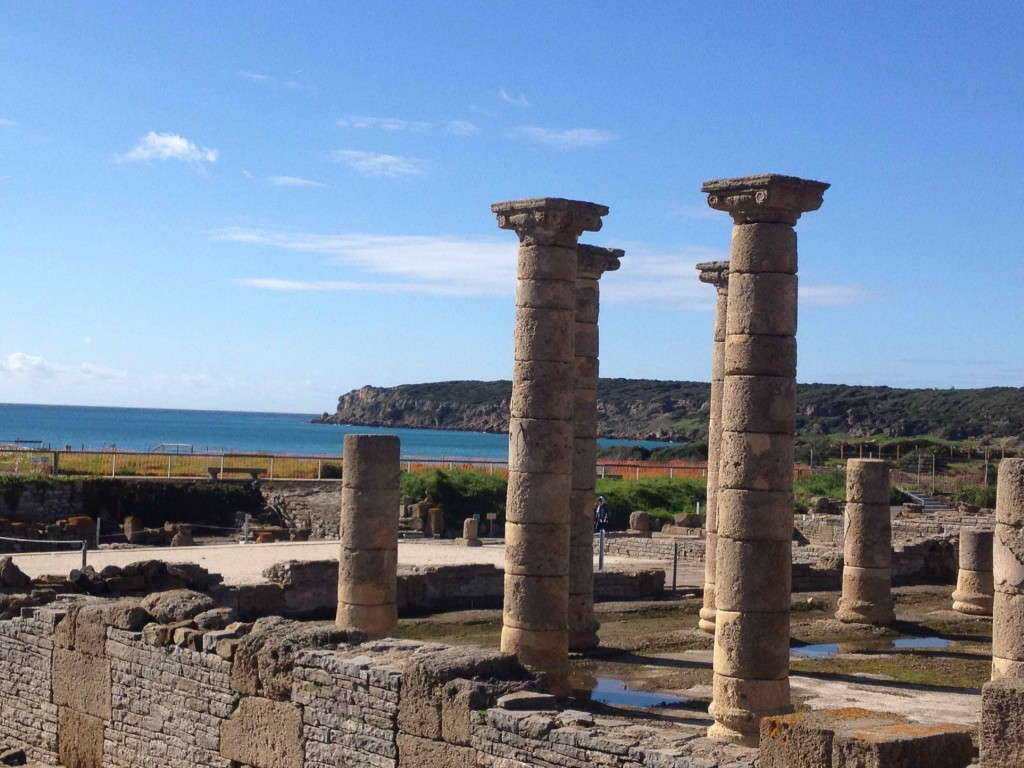 The view from the mercado (market) of the Roman ruins at Bolonia