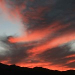 Dramatic sunsets at the Taliouine camp
