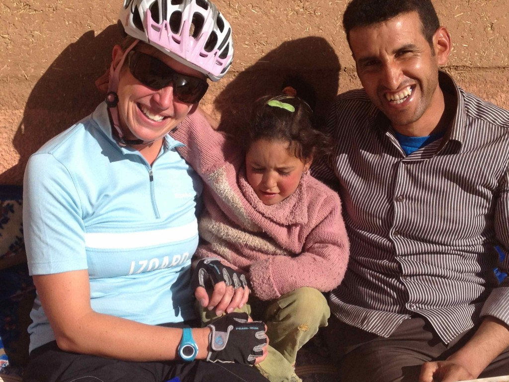 Nadia and her uncle, coffee break in Tamtatouche