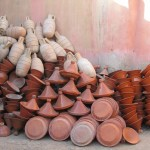 Tagines and pottery at the Souk Arab