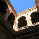 Internal courtyard in the Kasbah at Tamnougalt