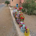 In one of the villages we passed through the women made wonderfully colourful pots