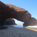 The rock archways at Legzira beach