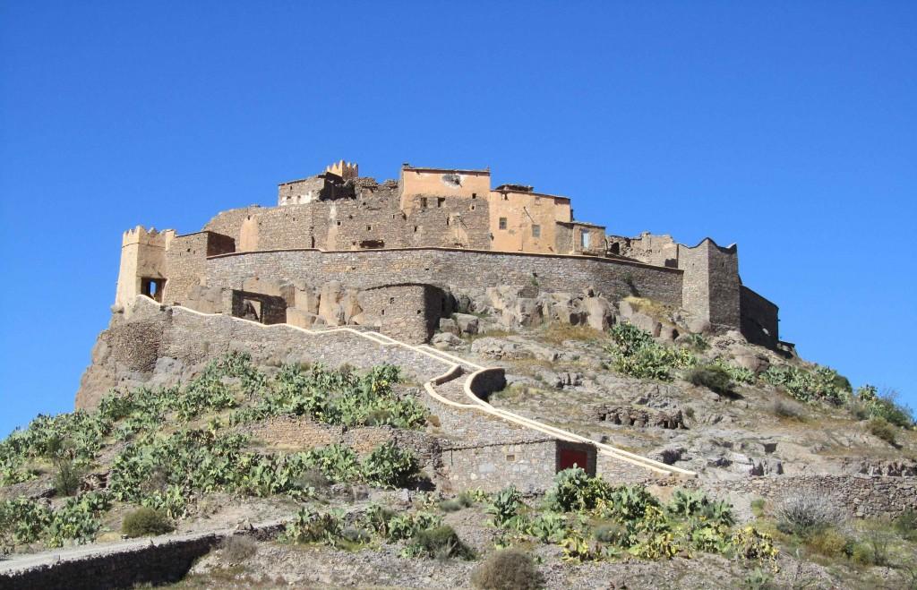 "The Kasbah de Tizourgan on the route ""des amandiers"" from Tafraoute to Agadir"