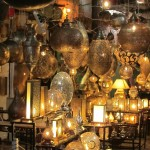 Lights and lanterns in the Marrakech souk