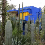 The beautiful house and gardens designed by French artist Jacques Majorelle, subsequently owned by Yves Saint-Laurent