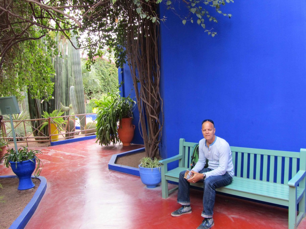 Leigh at the jardin majorelle marrakech for Jardin marrakech