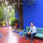 Leigh at the Jardin Majorelle, Marrakech