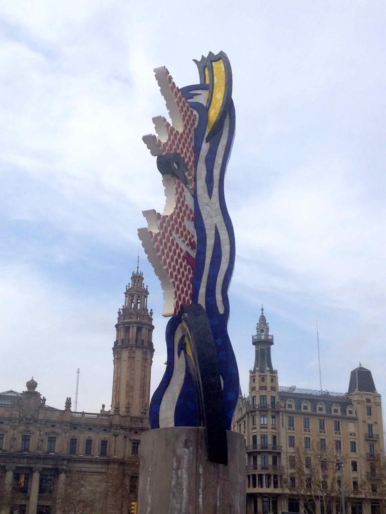 The face of Barcelona, designed by Roy LIchtenstein