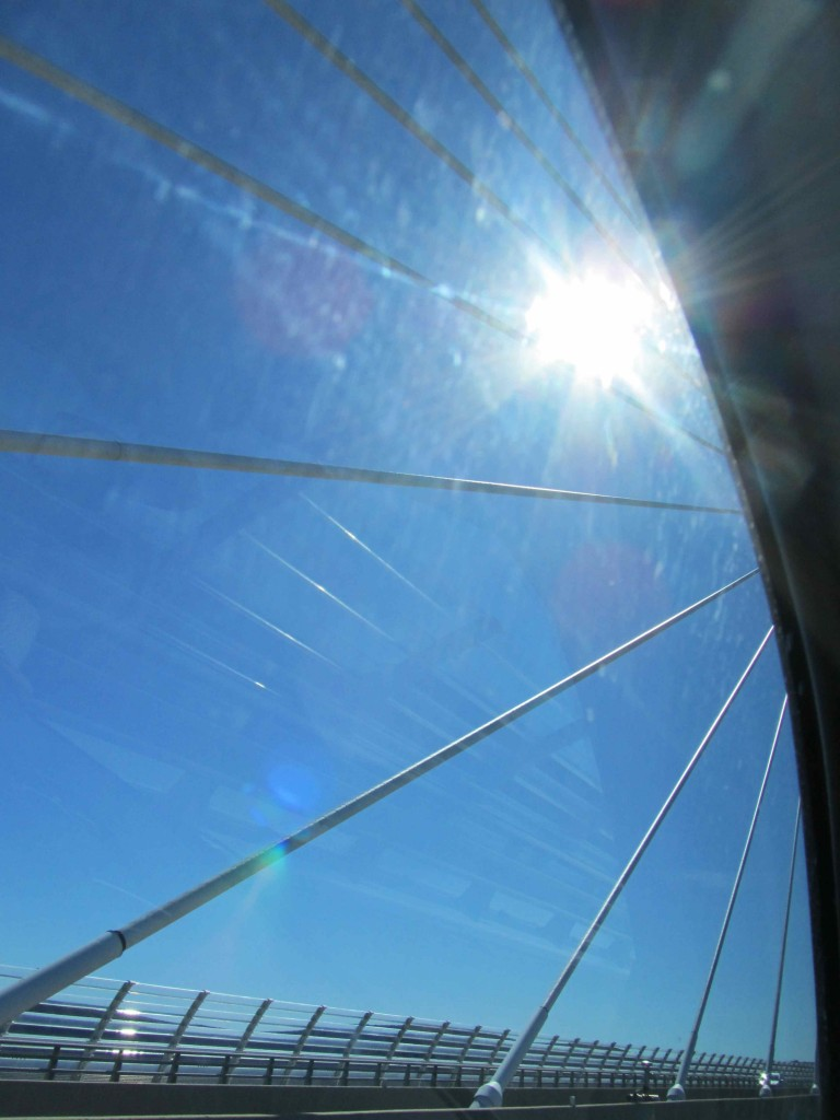 The Millau viaduct, designed by Norman Foster, up close and personal