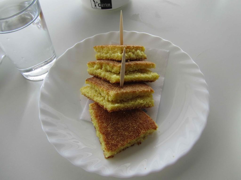 Harsha, the semolina flat bread typically eaten for breakfast