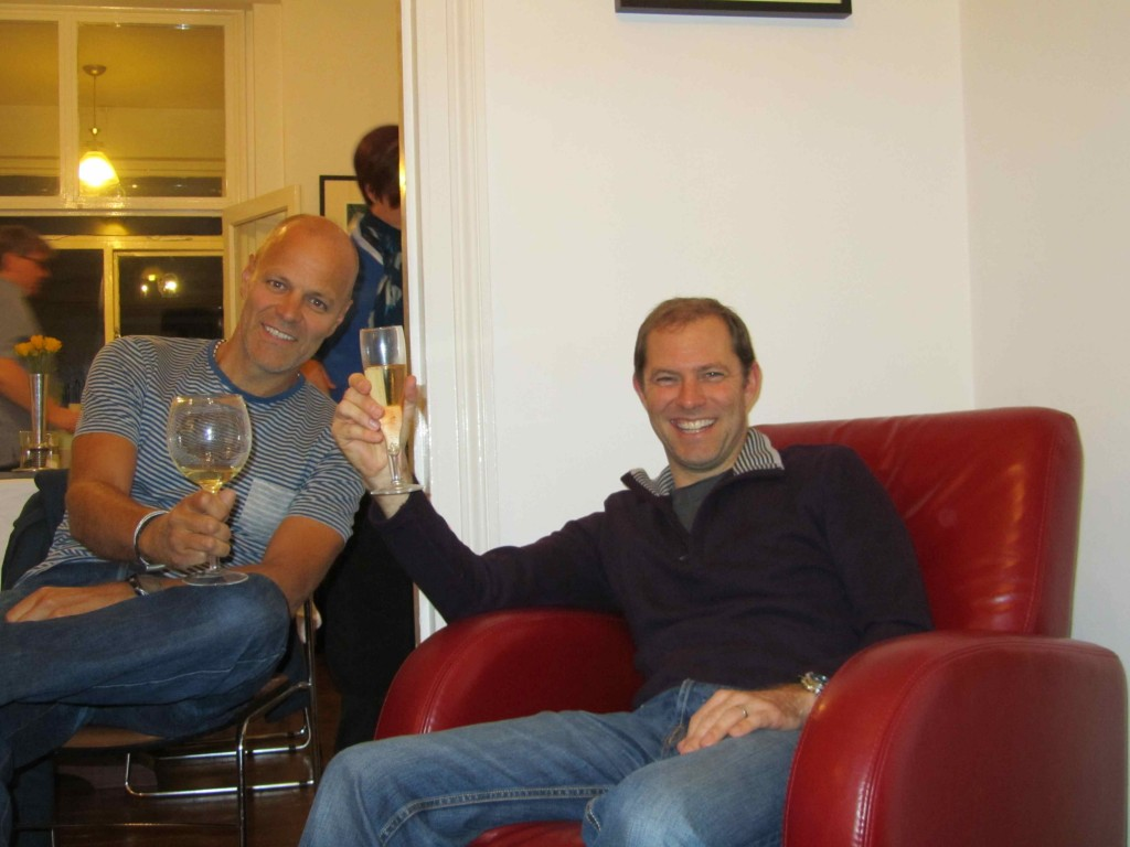 Leigh & Gaudy: a great evening with friends at Sharron & Fraser's