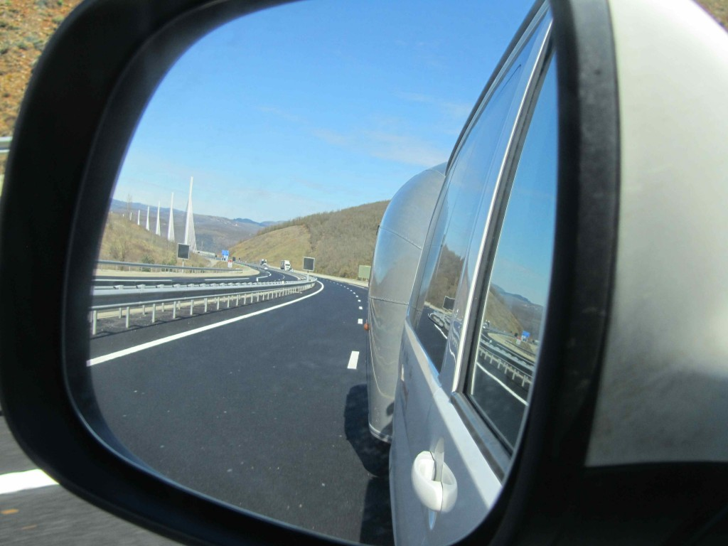Rear view angle: the Millau viaduct and Bambi