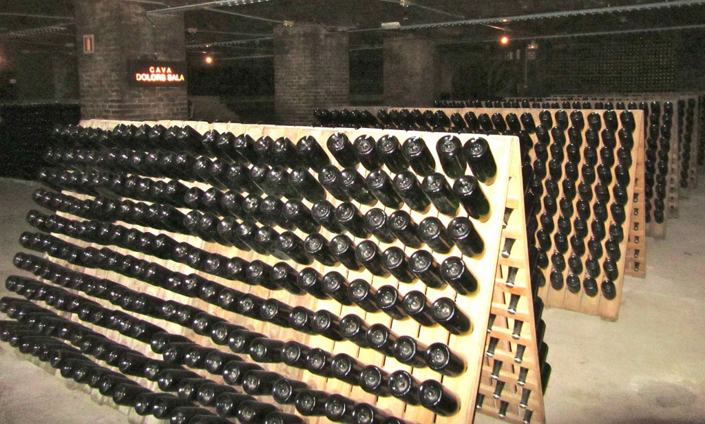 The cava cellars at Freixenet: over 20kms of tunnels and 150 million bottles