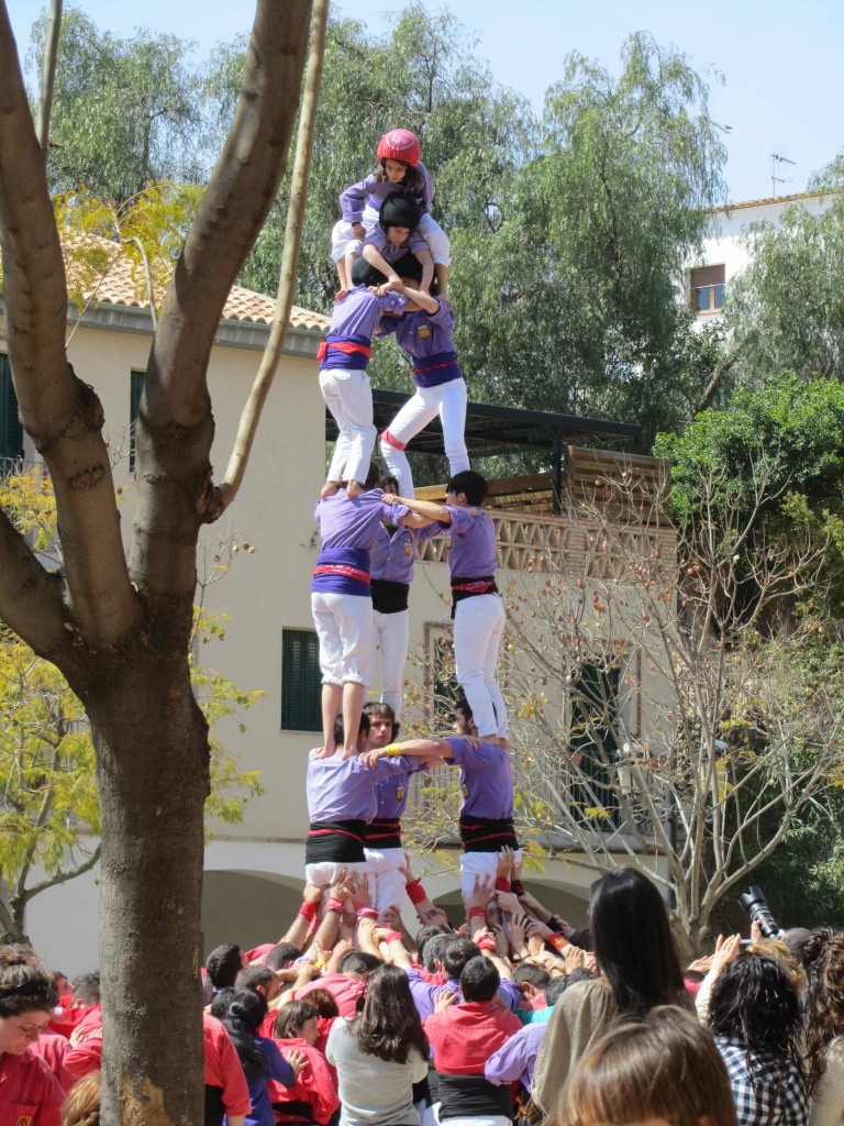 """A """"torre"""" from the local team, the Altafulla Castellers"""