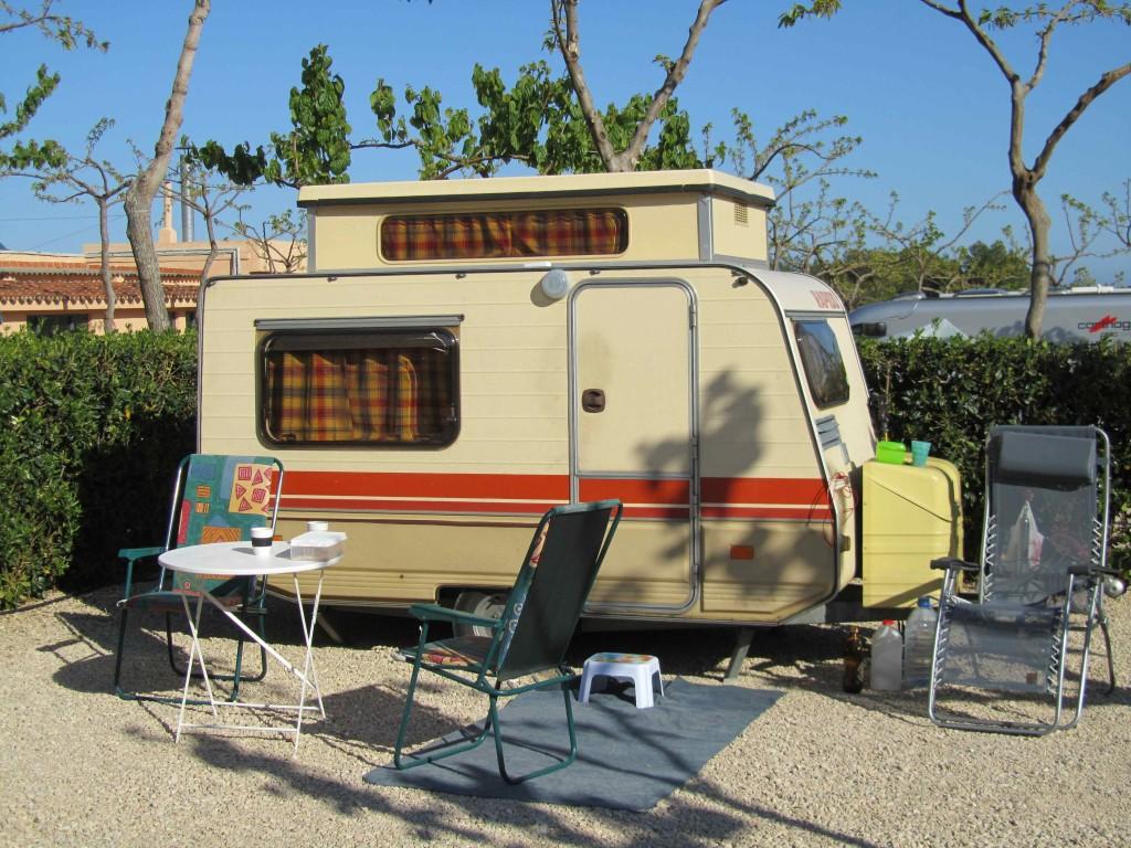 Eriba Rapido caravan, Camping Ribamar, Sierra de Irta