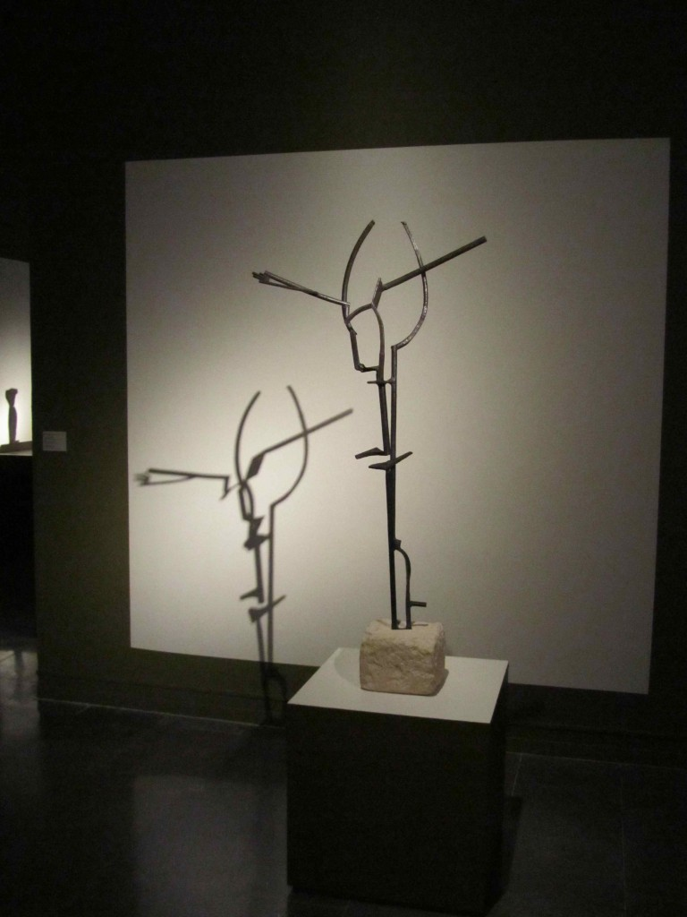 Julio Gonzalez sculpture in the permanent collection at the IVAM modern art museum