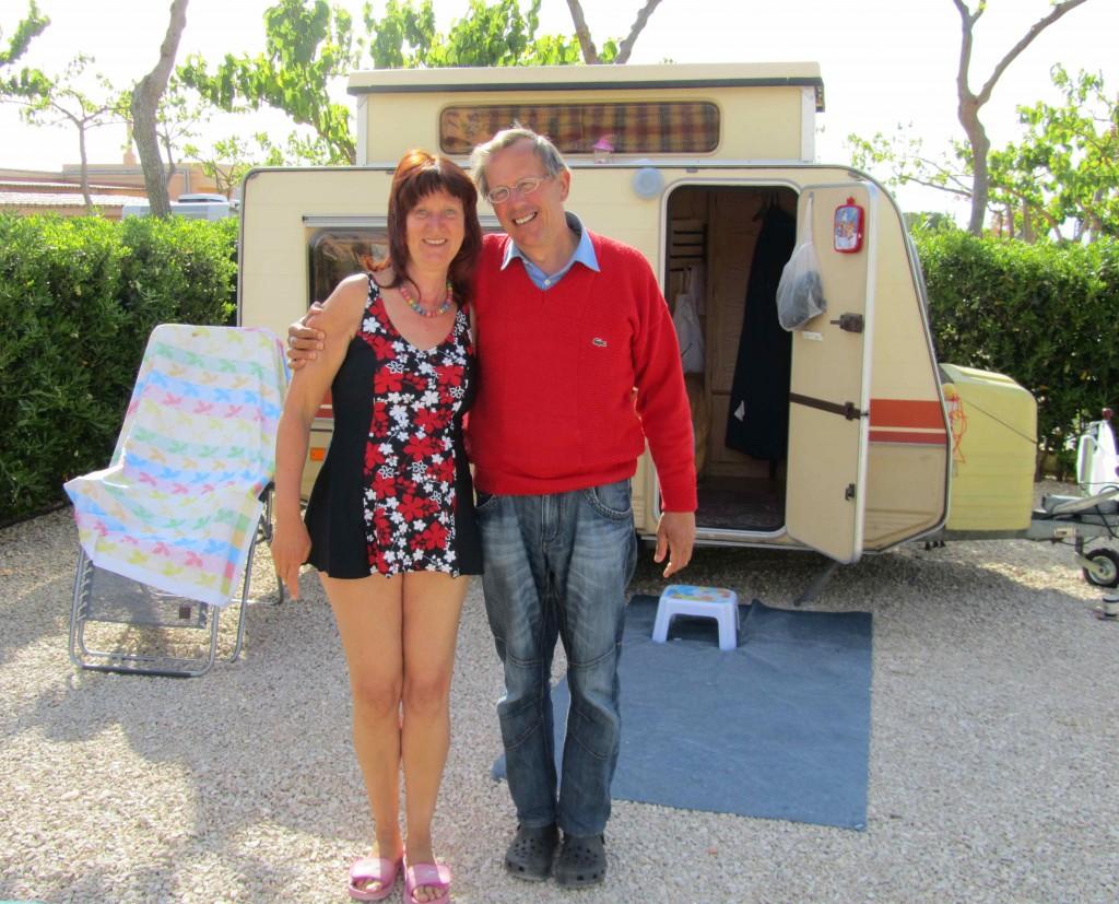 Karl and Marita, our neighbours at Camping Ribamar