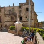 Picnic lunch, village square at La Pobla de Montornes