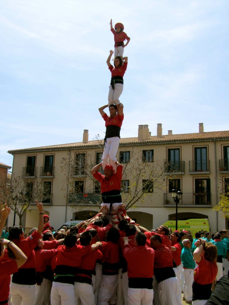 A needle by the Vilafranca Castellers