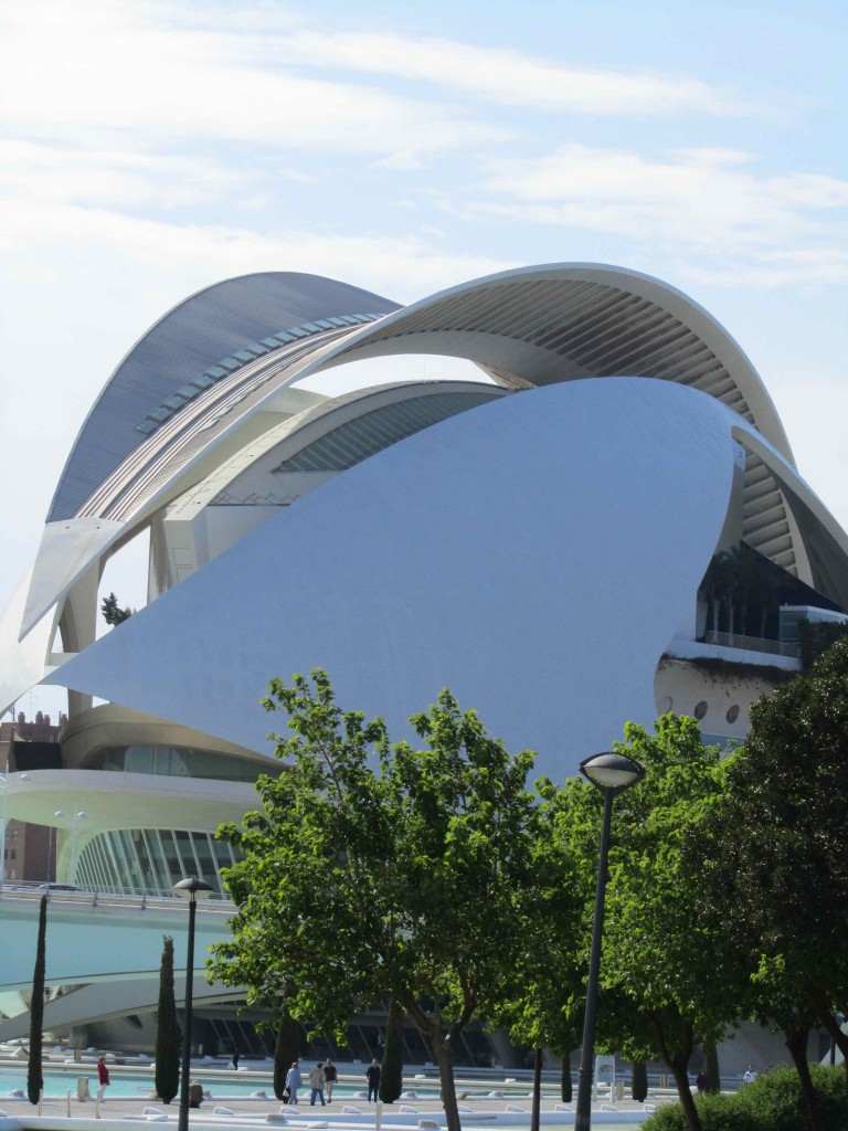 The space-age Hemispheric, part of the City of Arts & Sciences, Valencia