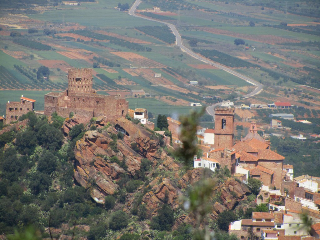 Looking down on the castle and churches of Vilafames