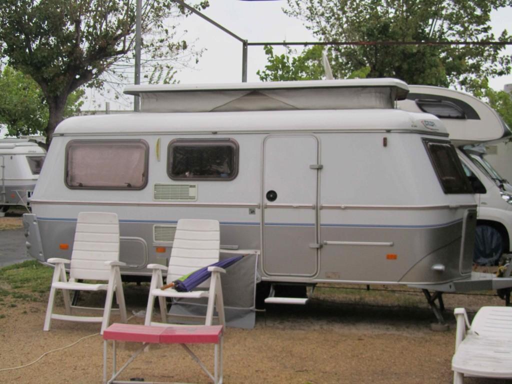 Eriba caravan, Valencia; slightly bigger than the vintage Eribas