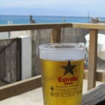 Enjoying an Estrella at a chiringuita in Cabo de Gata