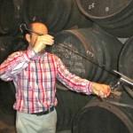 Fino tasting direct from the barrel at Lagar Blanco