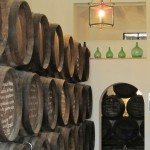 The barrels used to age the wine at Lagar Blanco