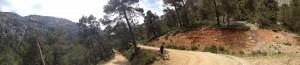The reward after a tough climb: a sweeping descent