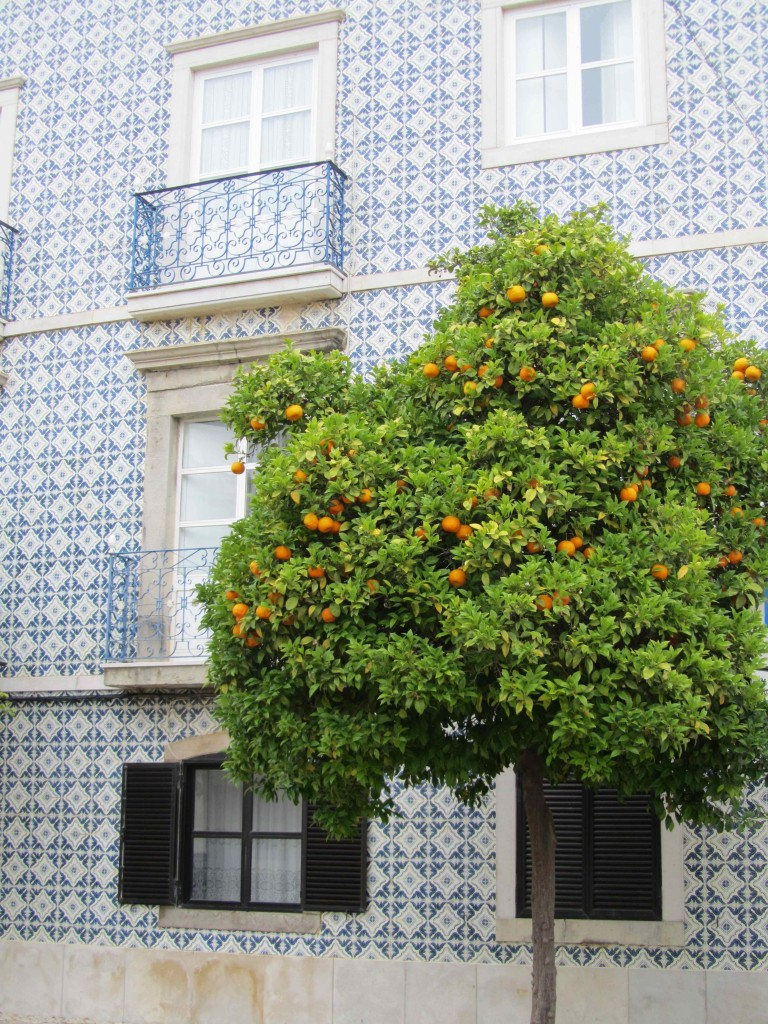 Typical tiled Algarve house