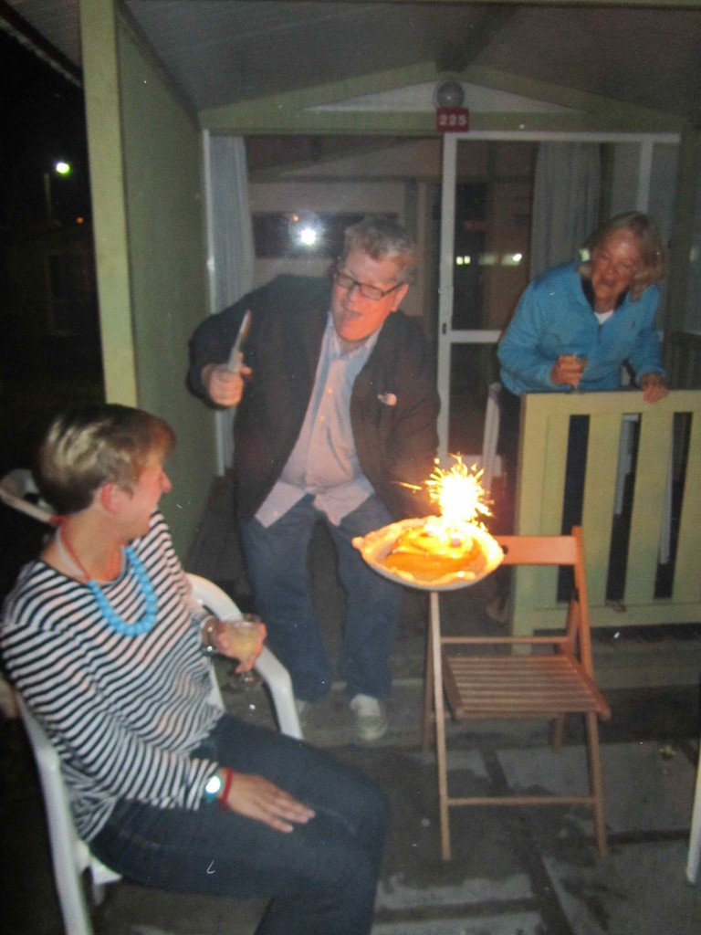 Birthday celebrations with sparklers, cake & singing ...