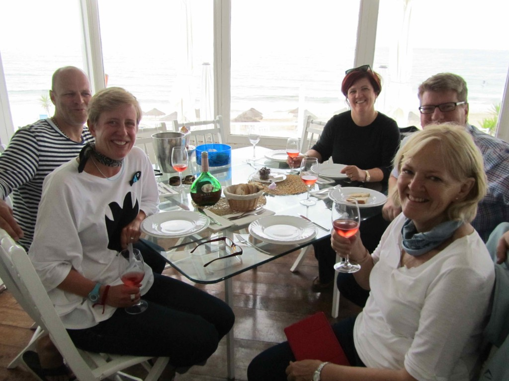 The birthday lunch: not quite on the beach, but close enough