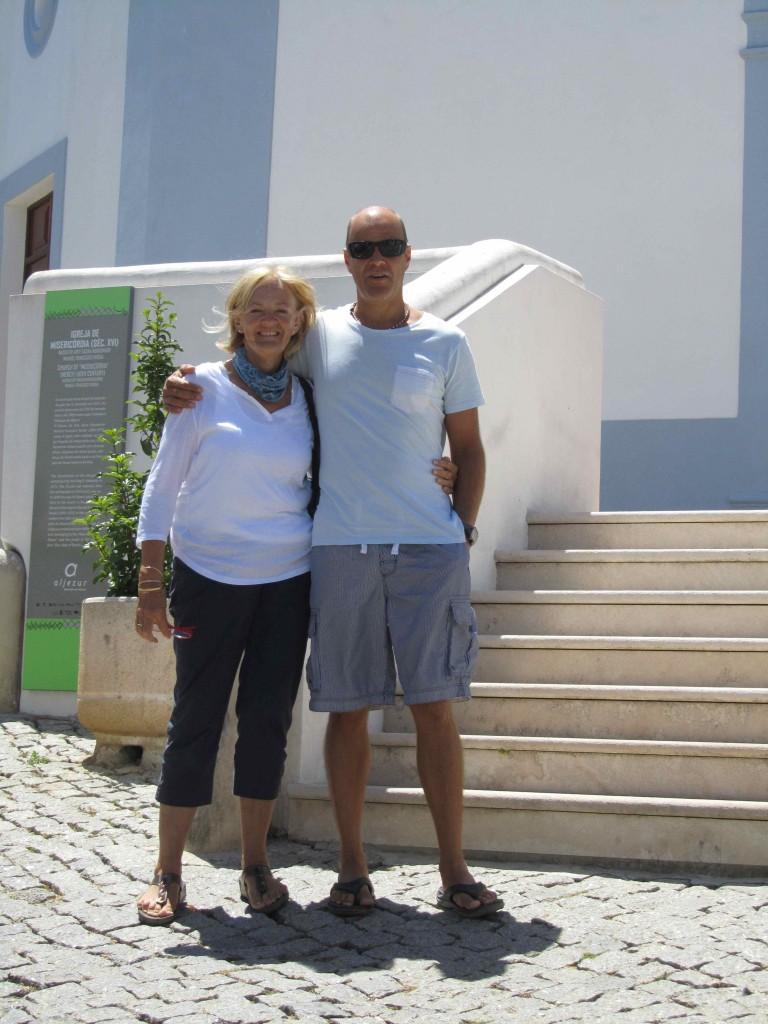 Brenda and Leigh enjoying the sights of Aljezur