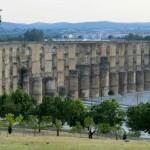 The multi-tiered aquaduct in Elvas