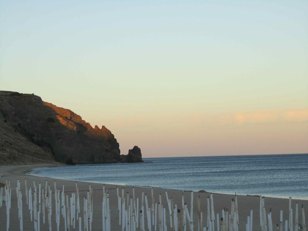 Praia de Luz at dusk