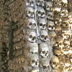 One of the walls in the Capela dos Ossos, Evora