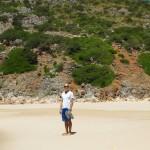 The deserted Praia do Furnas