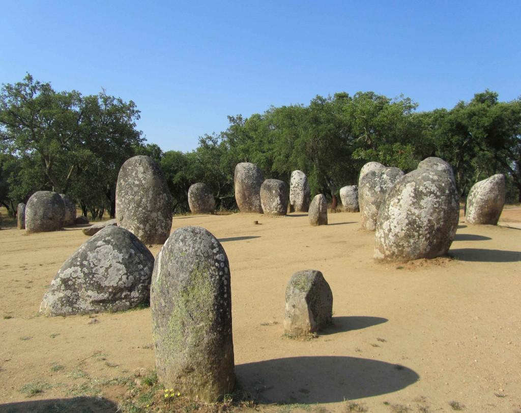The Cromeleque dos Almendres, near Evora
