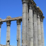 The Roman temple, Evora