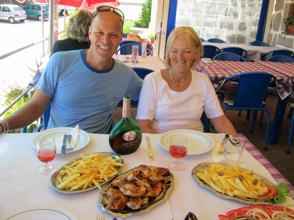 The famous Portuguese chicken piri piri