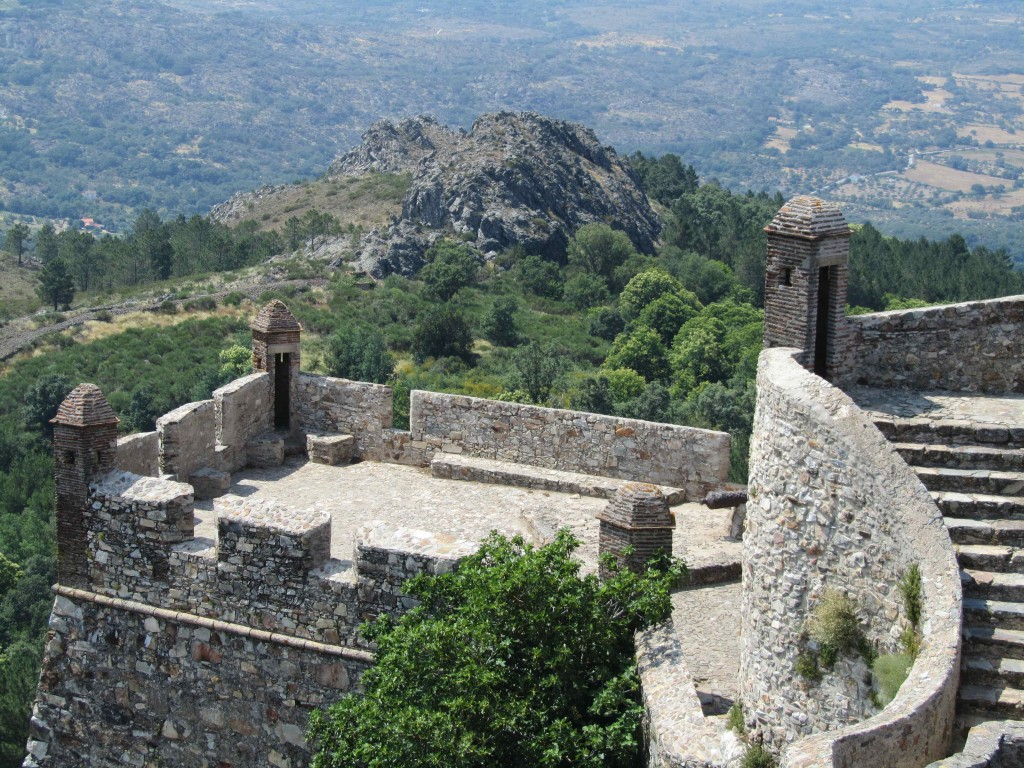 The fortifications at the castle in Marvao