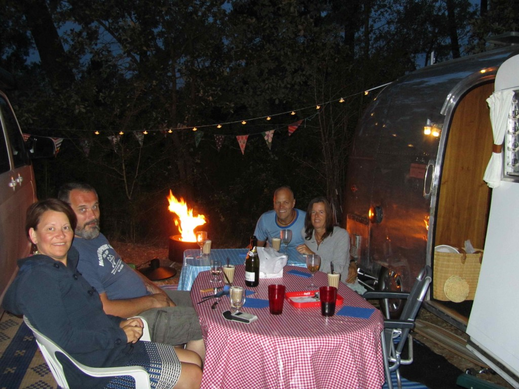 Dinner in camp with Aart, Danielle and Renata